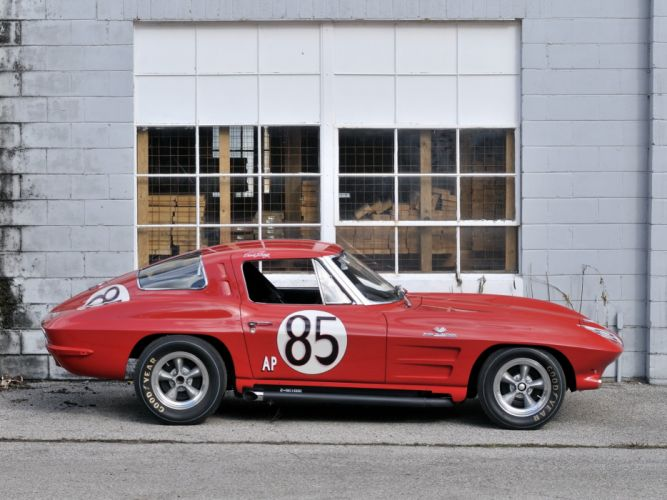 1963 Chevrolet Corvette Sting Ray Z06 Race racing (C-2) muscle classic hot rod rods d wallpaper
