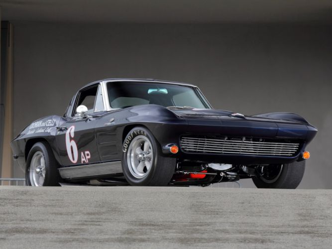 1963 Chevrolet Corvette Sting Ray Z06 Race racing (C-2) muscle classic hot rod rods w wallpaper