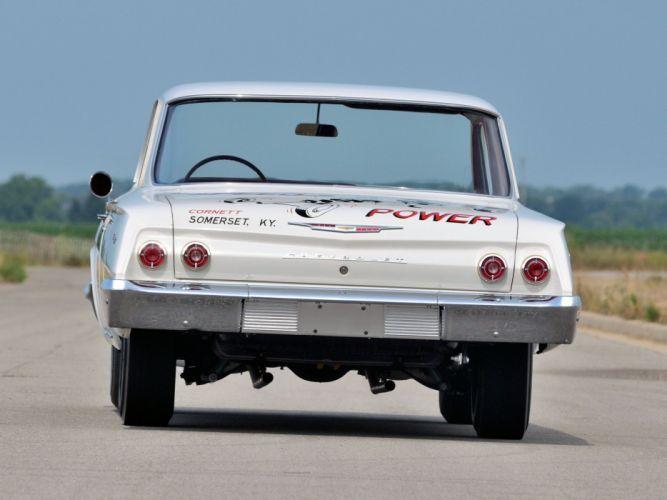 1962 Chevrolet Biscayne 409 409HP 2-door Sedan Race (1211) drag racing hot rod rods muscle classic wallpaper