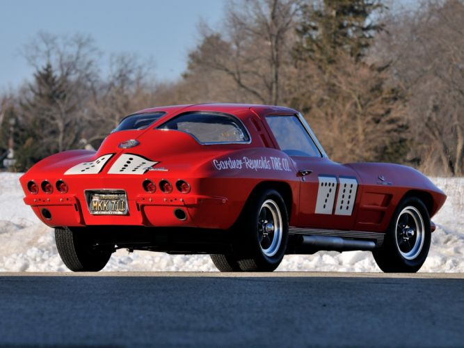 1963 Chevrolet Corvette Sting Ray Race 7-11 (C-2) racing muscle hot rod rods classic wallpaper