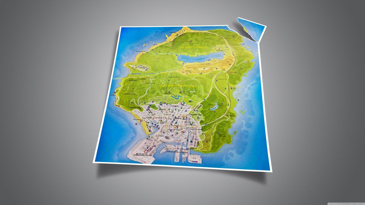 GTA V Map wallpaper