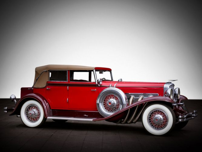 1931 Duesenberg Model- J 338-2350 Convertible Sedan SWB LeBaron luxury retro wallpaper