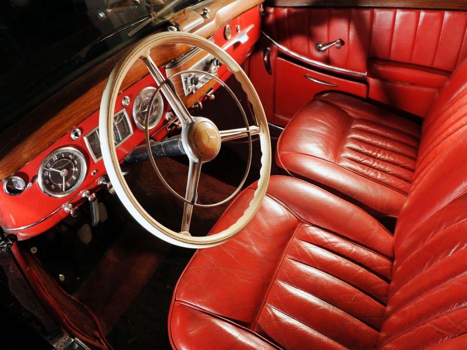 1951-55 Mercedes Benz 220 Cabriolet A (W187) luxury retro wallpaper