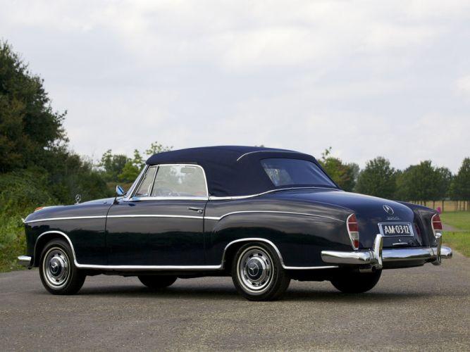 1956-59 Mercedes Benz 220S Cabrio (W180-II) luxury retro wallpaper