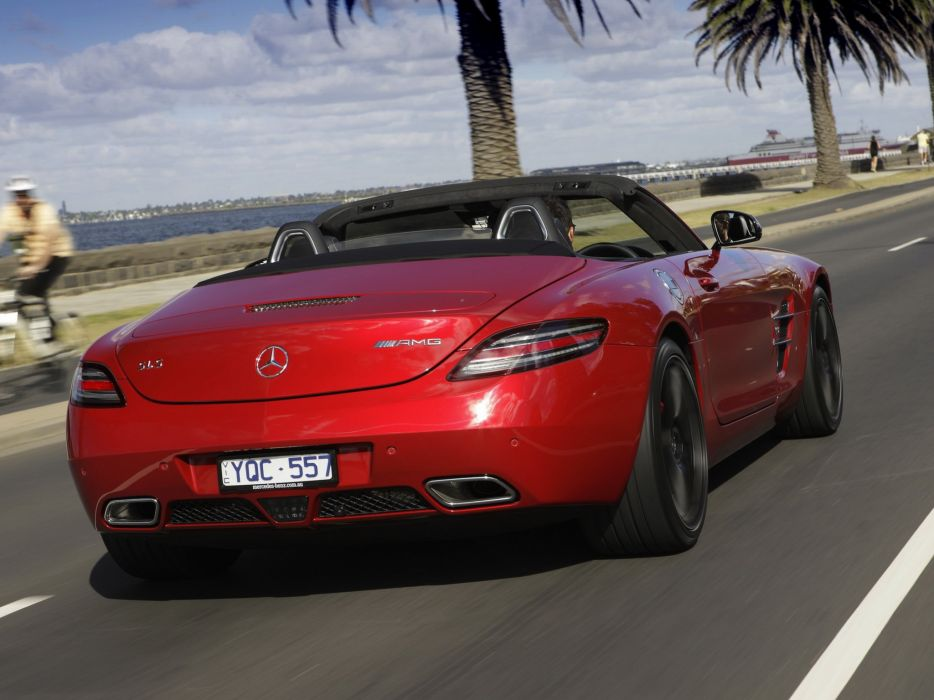 2011 Mercedes Benz SLS63 AMG Roadster AU-spec (R197) sls supercar wallpaper