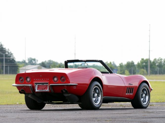 1969 Chevrolet Corvette Sting ray L46 350 Convertible (C-3) muscle classic wallpaper
