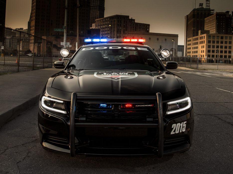 2015 Dodge Charger Pursuit (L-D) police emergency muscle wallpaper