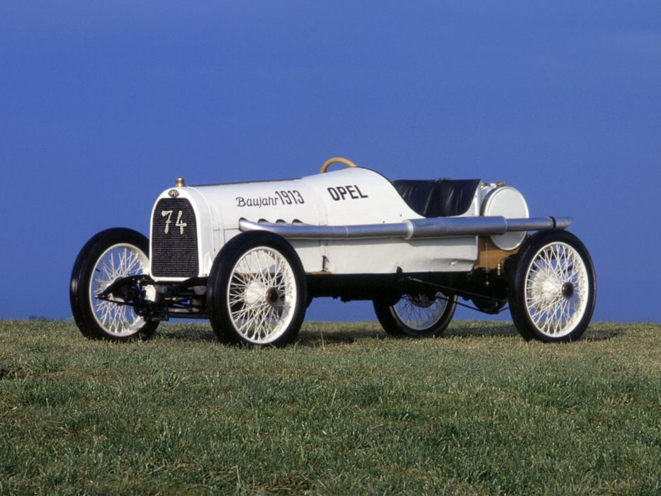 1913 Opel Rennwagen retro race racing wallpaper