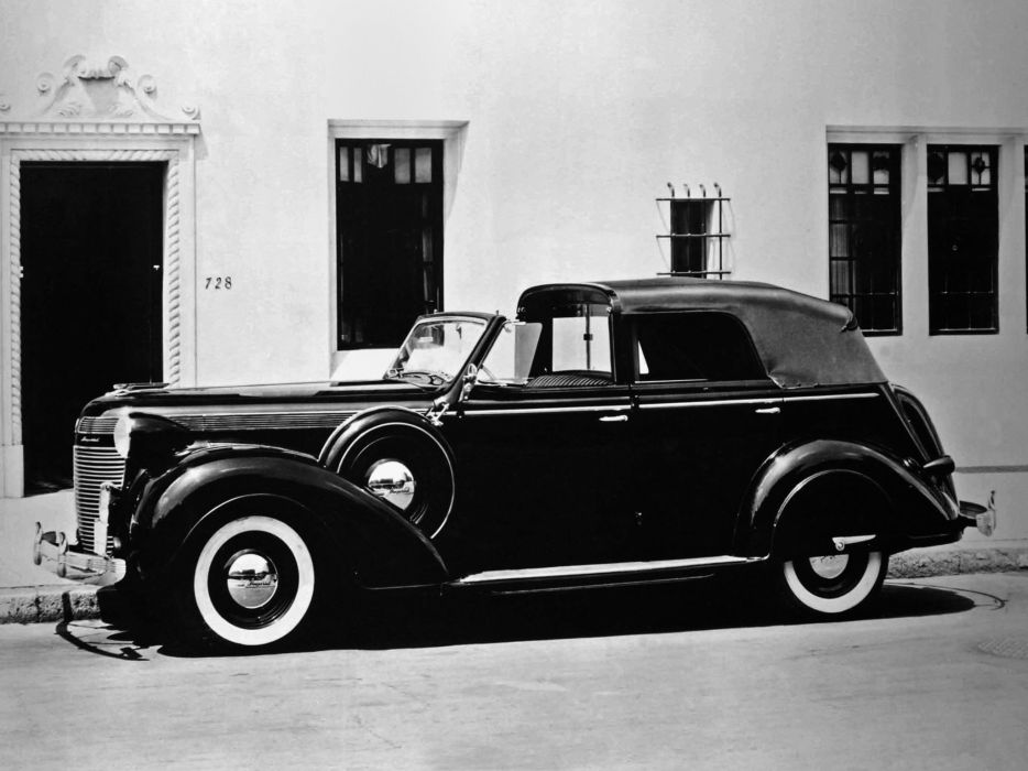 1937 Chrysler Imperial 4-door Convertible Formal Town Car Derham (C-15) luxury retro f wallpaper