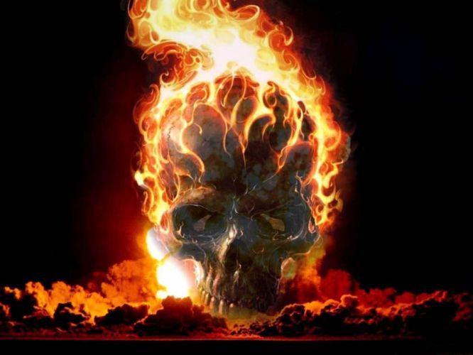 Fire Skull wallpaper