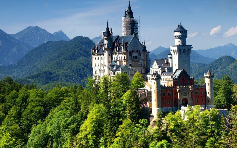 germany neuschwanstein castle alps bavaria wallpaper