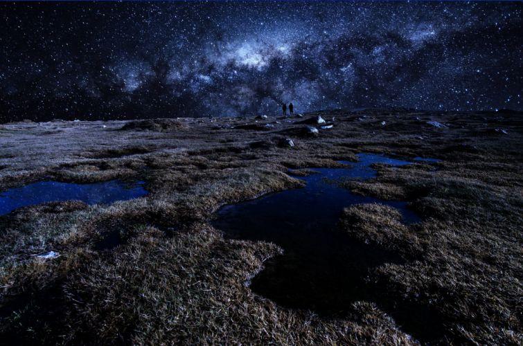 Milky Way France France stars wallpaper