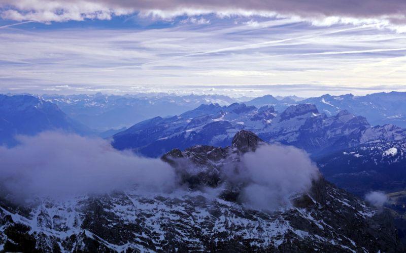 sky mountains landscape wallpaper