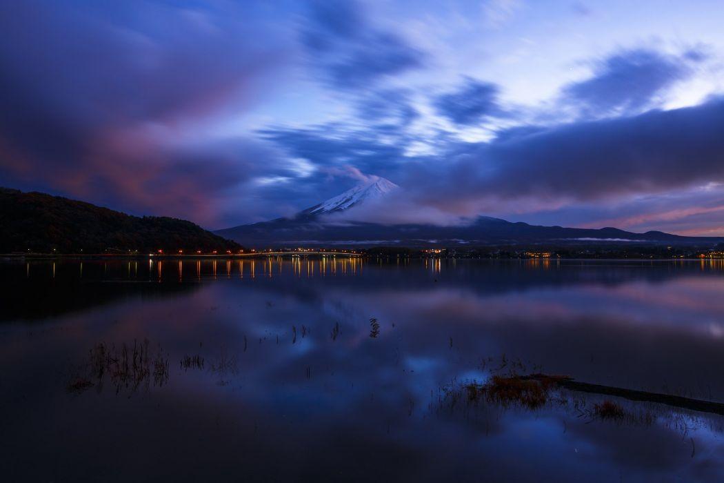 volcano Mount Fuji Japan Honshu Mount wallpaper
