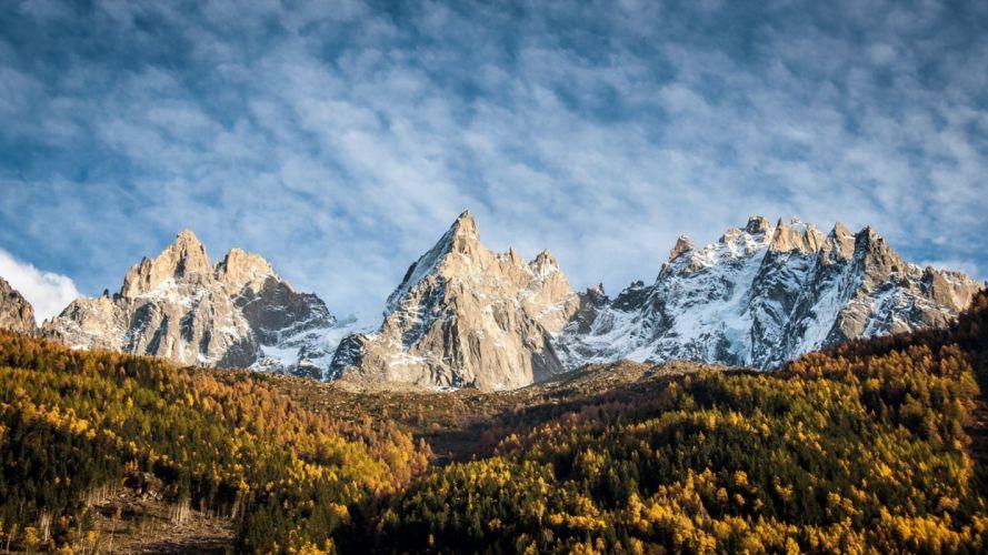 mountains sky landscape autumn wallpaper