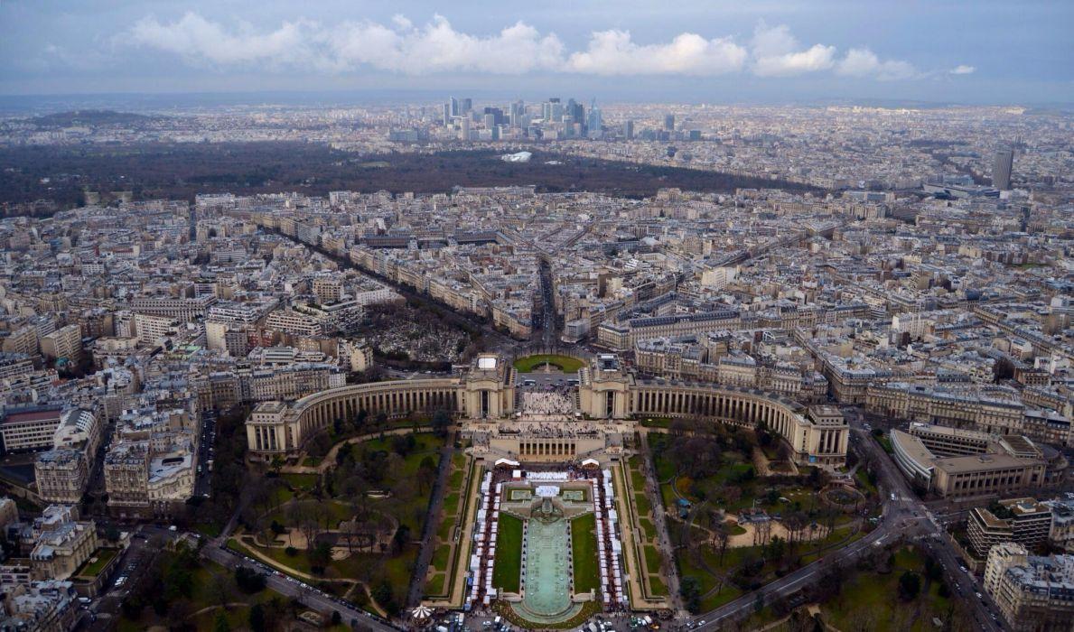 Paris view panorama wallpaper