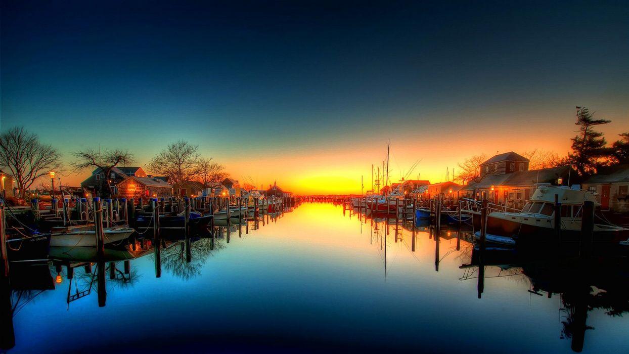 sky channel bay boat boat yacht sunset wallpaper