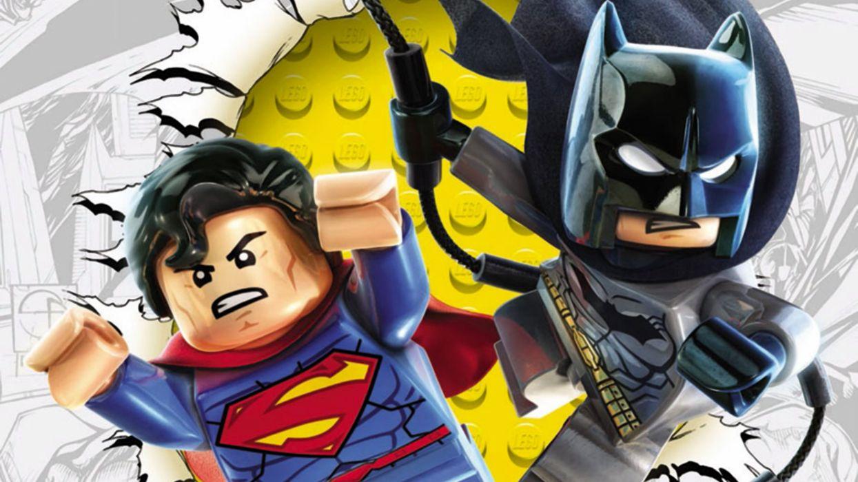 Lego Superman and Batman wallpaper
