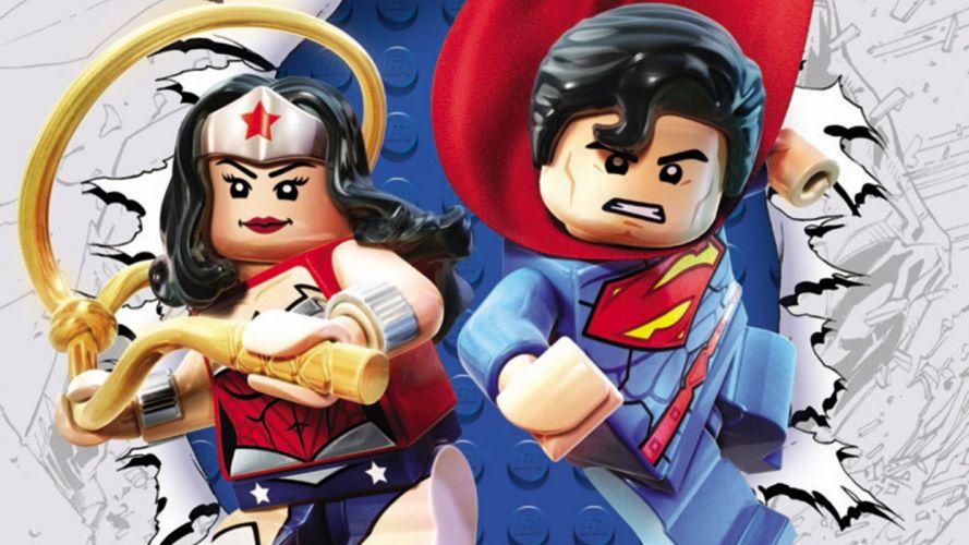 Lego Superman and Wonder Woman wallpaper