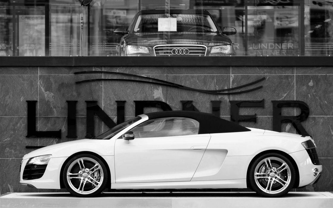 Audi R8 V10 Spyder & Audi A8 wallpaper