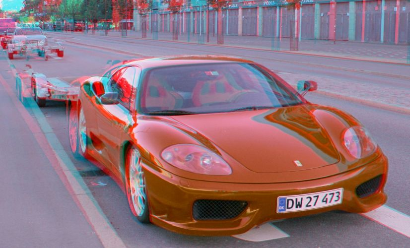 anaglyph cars Glasses Ferrari wallpaper