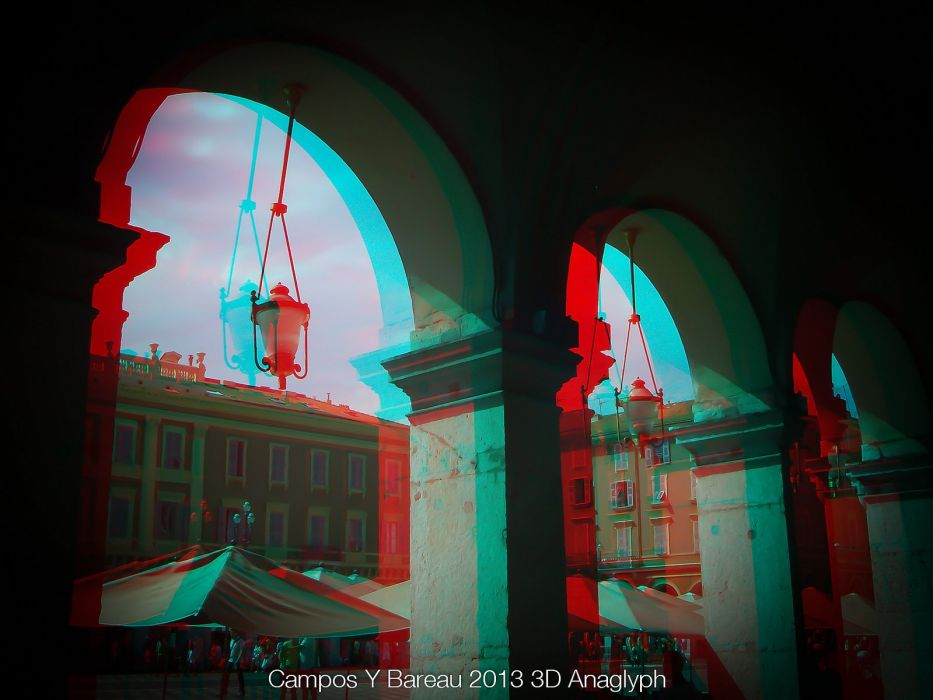 3D anaglyph Glasses wallpaper