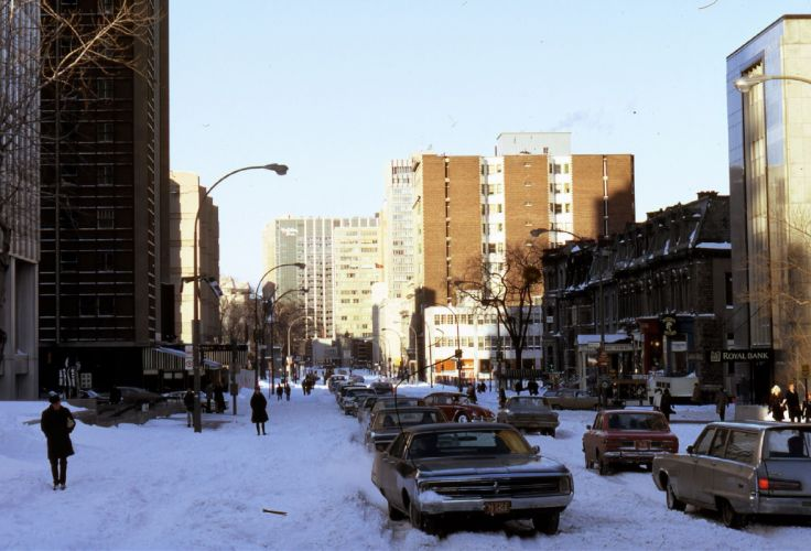 MONTREAL quebec canada building winter traffic wallpaper