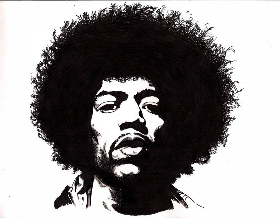 Jimi Hendrix Knowledge Speaks Quote Wall Art Sticker AS10317