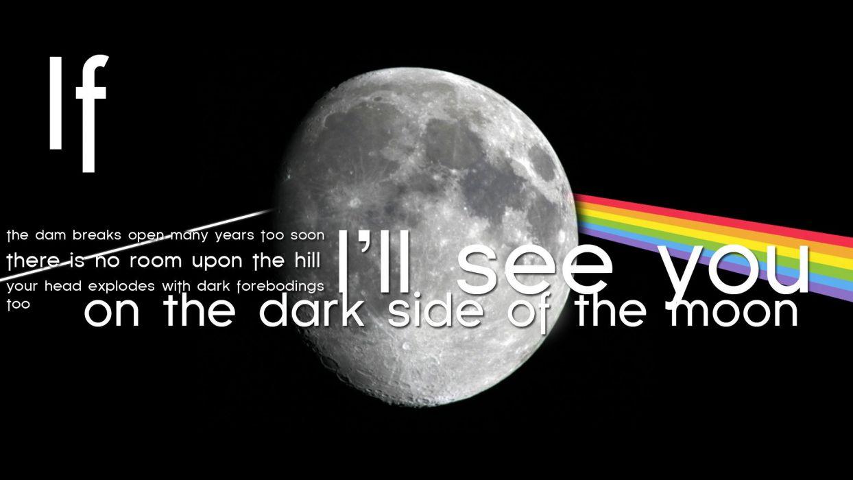 PINK FLOYD progressive rock psychedelic classic hard moon wallpaper