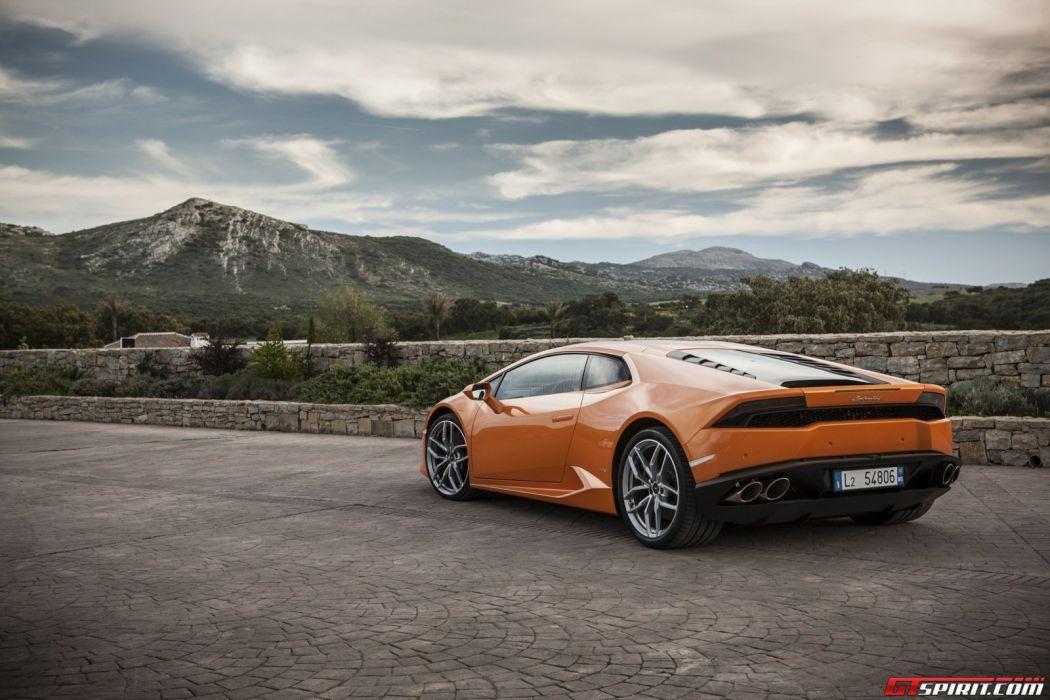 2014 huracan Lamborghini lb724 lp610 4 Supercar orange wallpaper