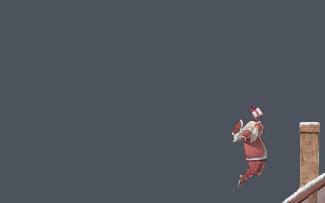 humor funny santa christmas wallpaper