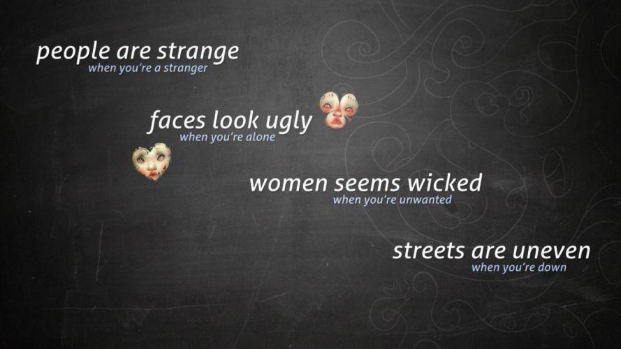 humor funny motivational sad mood doors wallpaper