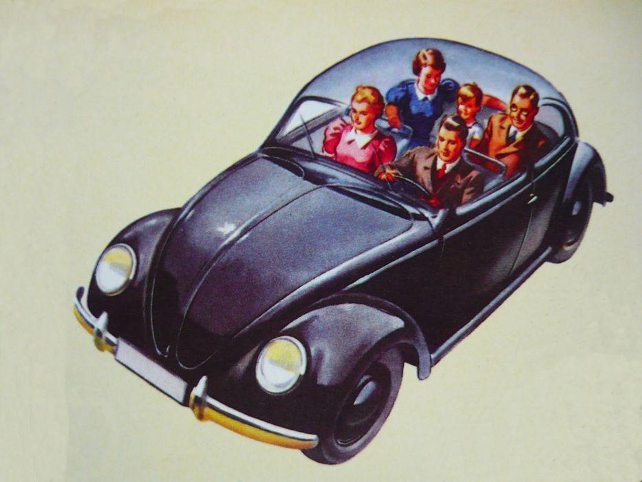 1939 KdF Wagen beetle volkswagen classic retro wallpaper