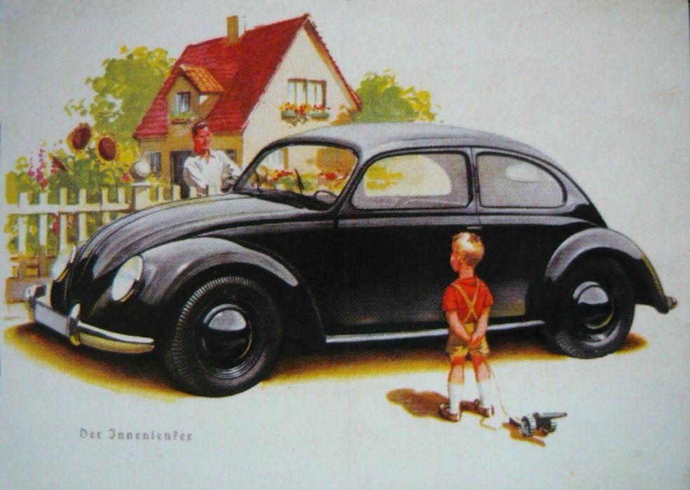 1939 KdF Wagen classic retro volkswagen beetle wallpaper