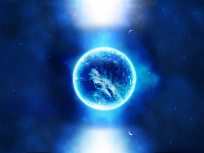 Blue orb cian wallpaper