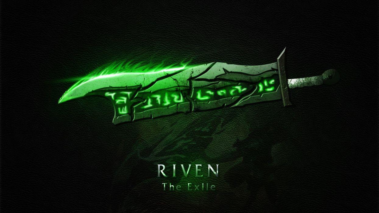 Logo Game Riven Weapon Sword Legue Of Legends Wallpaper