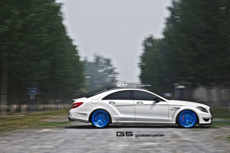 ADV1 wheels mercedes cls63 amg tuning white wallpaper