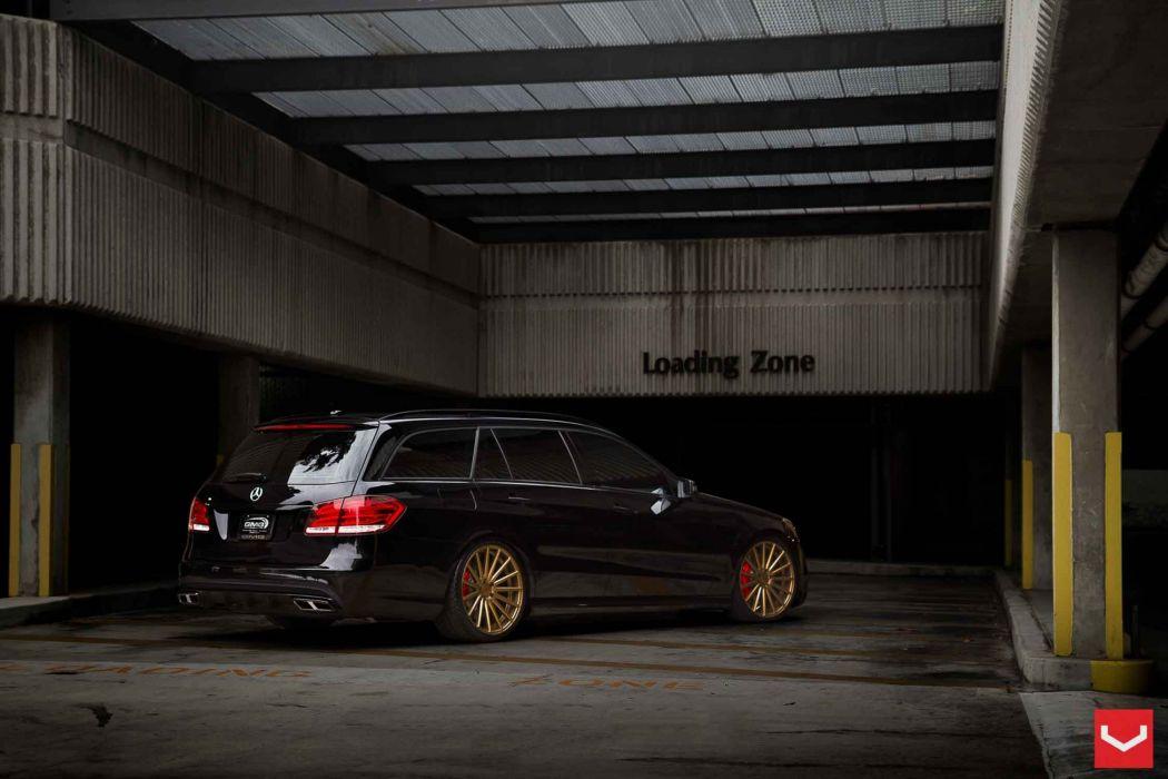 vossen wheels mercedes class e tuning black wallpaper