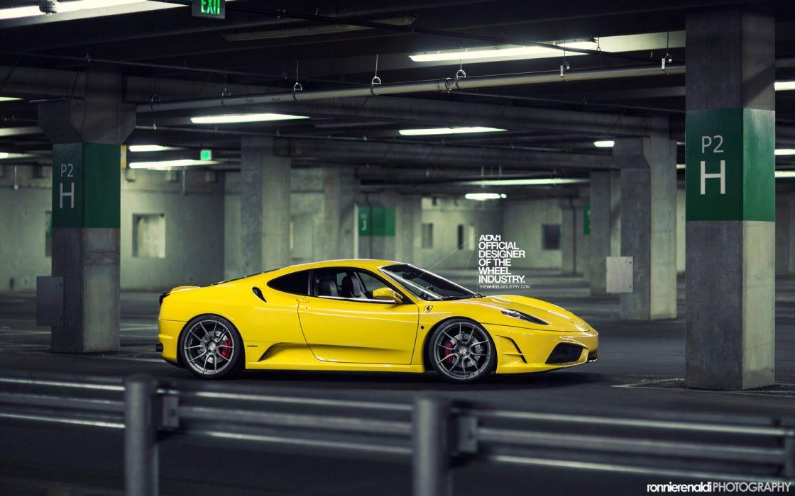 ADV1 wheels FERRARI F430 tuning yellow wallpaper