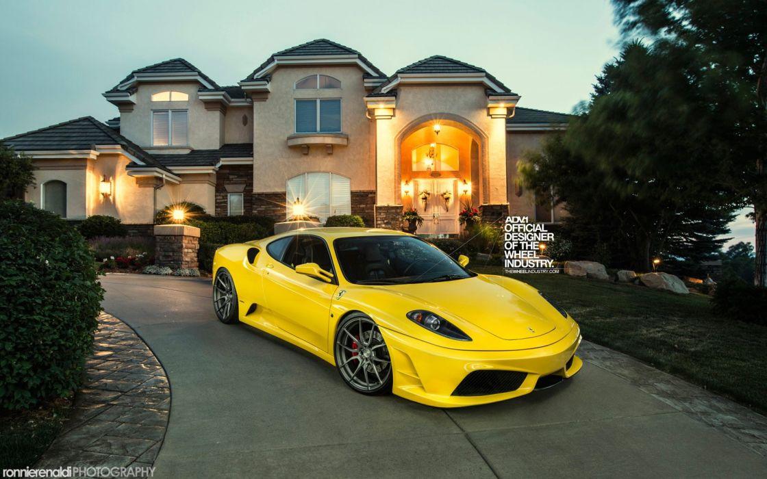 Adv1 Wheels Ferrari F430 Tuning Yellow Wallpaper 1600x1000