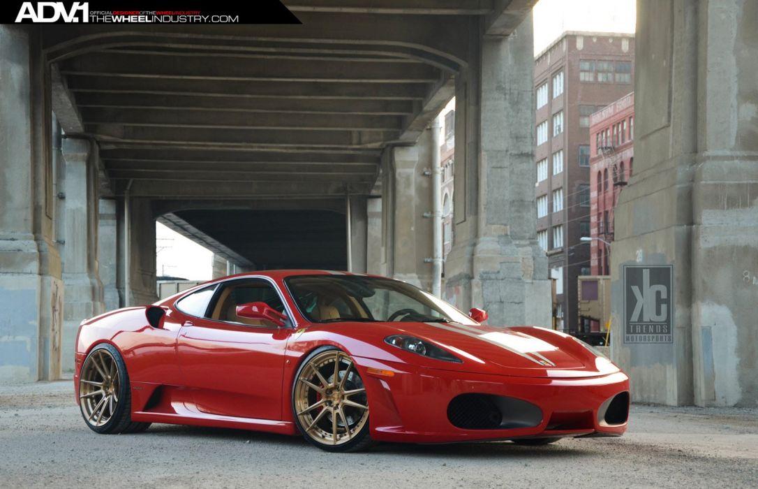 ADV1 wheels FERRARI F430 tuning red wallpaper