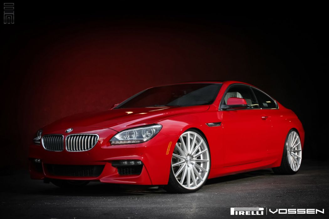 vossen wheels bmw 4 serie coupe tuning red wallpaper