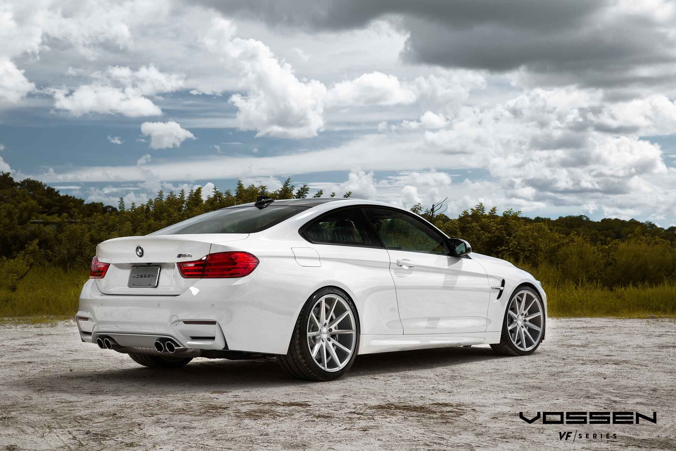 Vossen Wheels Bmw 4 Serie Coupe Tuning White Wallpaper