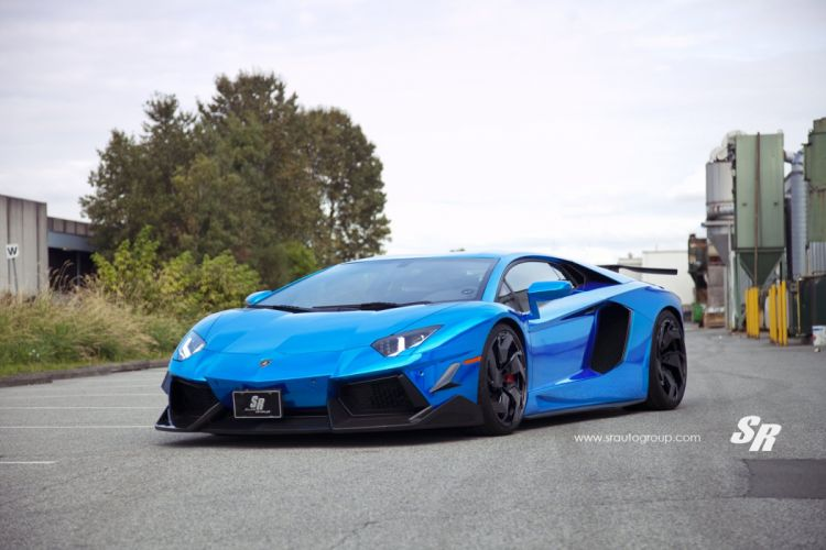 PUR wheels lamborghini aventador coupe tuning blue bleue wallpaper