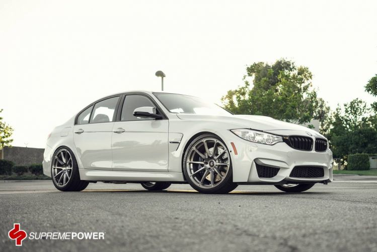 BMW M3 Vorsteiner Wheels white tuning wallpaper