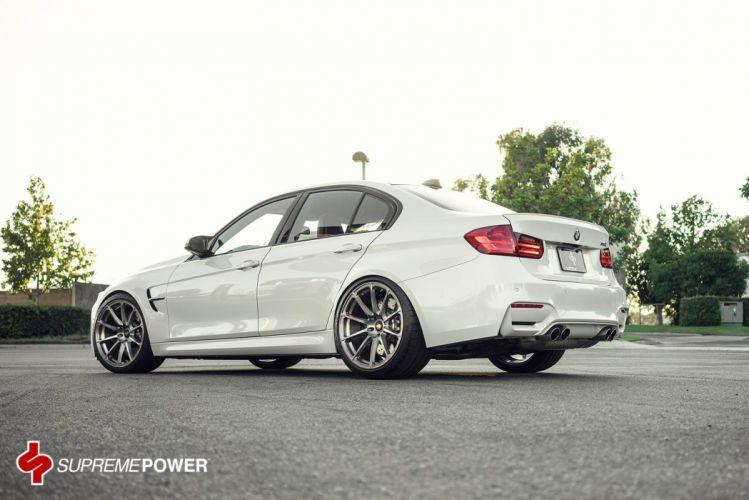 BMW M3 Vorsteiner Wheels white tuning wallpaper