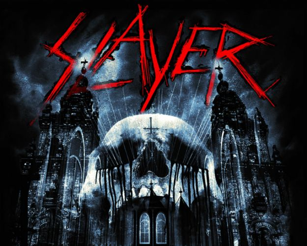 SLAYER death metal heavy thrash skull dark wallpaper