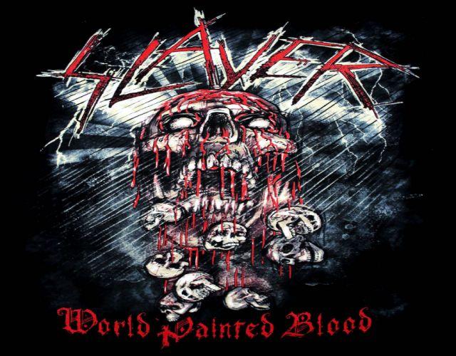 SLAYER death metal heavy thrash dark skull wallpaper