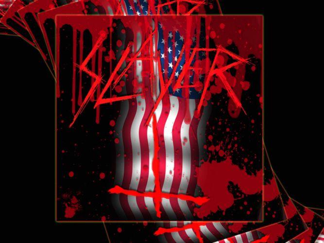 SLAYER death metal heavy thrash blood flag wallpaper