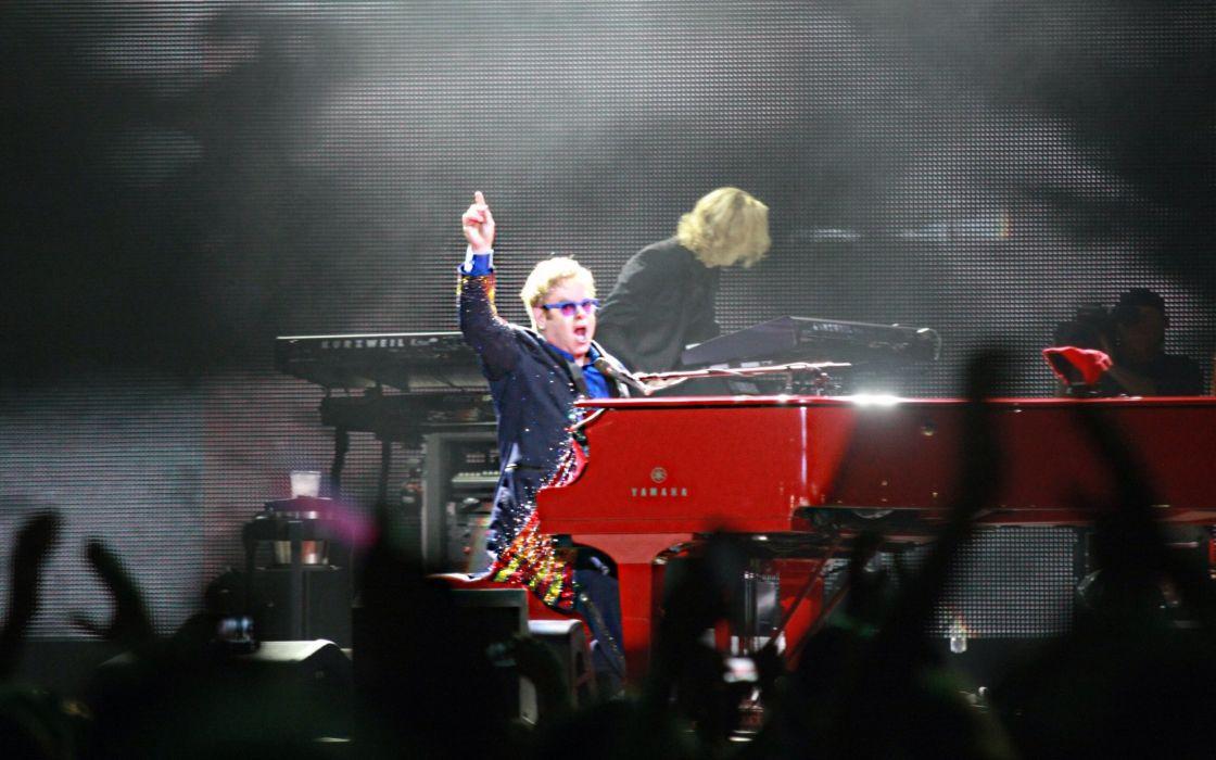 ELTON JOHN rock pop glam classic piano concert wallpaper